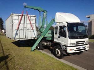 Side Loader Container Transport Melbourne