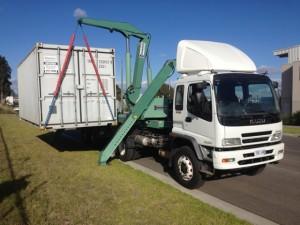 Side Loader Container Transport Melbourne